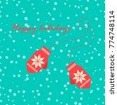 christmas greeting card ... | Shutterstock .eps vector #774748114