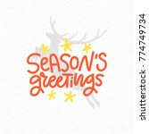 new year decorations with hand... | Shutterstock .eps vector #774749734