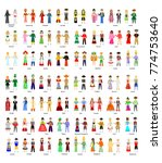 illustration with a big set of... | Shutterstock . vector #774753640
