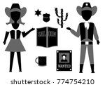 set in the style of a flat... | Shutterstock . vector #774754210