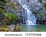 the temurun waterfall   forest... | Shutterstock . vector #774759088