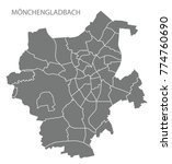 moenchengladbach city map with... | Shutterstock .eps vector #774760690
