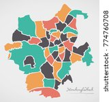 moenchengladbach map with... | Shutterstock .eps vector #774760708