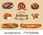 bakery set with bread for your... | Shutterstock .eps vector #774765046