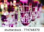 pink glasses in a row   texture ... | Shutterstock . vector #774768370