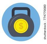flat vector icon design of... | Shutterstock .eps vector #774770080