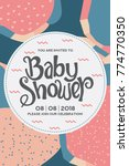 baby shower invitation card.   Shutterstock .eps vector #774770350