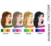seasonal color analysis. set of ... | Shutterstock .eps vector #774771349