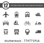 transport vector icons for your ... | Shutterstock .eps vector #774771916