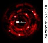 abstract techno circle... | Shutterstock .eps vector #77477308