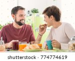 young loving couple having... | Shutterstock . vector #774774619