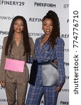 "Small photo of LOS ANGELES - DEC 13: Halle Bailey, Chloe Bailey at the ""Grown-ish"" Premiere Screening at the Lure Nightclub on December 13, 2017 in Hollywood, CA"