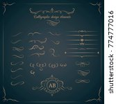 vintage set of calligraphic... | Shutterstock .eps vector #774777016