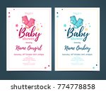 template design baby shower... | Shutterstock .eps vector #774778858