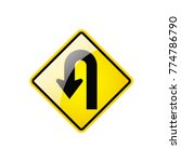 u  turn symbol icon on white... | Shutterstock .eps vector #774786790