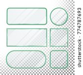 transparent glass button. set... | Shutterstock . vector #774787693