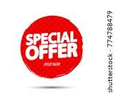 special offer  banner design... | Shutterstock .eps vector #774788479