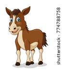 Adorable Horse Cartoon. Vector...