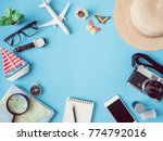 top view travel concept with... | Shutterstock . vector #774792016