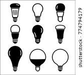 light bulb icon set. vector...   Shutterstock .eps vector #774794179