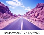 color toned desert canyon road  ... | Shutterstock . vector #774797968