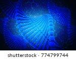 3d render of dna structure ... | Shutterstock . vector #774799744