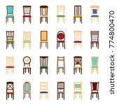 set of icons of chairs  vector... | Shutterstock .eps vector #774800470