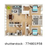 floor plan of a house top view... | Shutterstock . vector #774801958