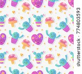 vector seamless pattern with... | Shutterstock .eps vector #774803593