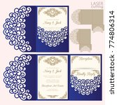 die laser cut wedding card... | Shutterstock .eps vector #774806314
