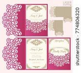 die laser cut wedding card... | Shutterstock .eps vector #774806320