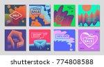 minimal editorial vector covers ... | Shutterstock .eps vector #774808588