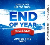 end of year sale promo vector... | Shutterstock .eps vector #774820873