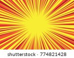 abstract comic speed radial... | Shutterstock .eps vector #774821428