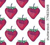 strawberry seamless pattern... | Shutterstock .eps vector #774823648