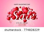 valentines day sale background... | Shutterstock .eps vector #774828229