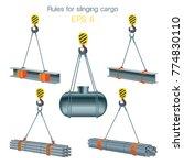 rules for slinging cargo.... | Shutterstock .eps vector #774830110