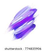 brash stroke ultraviolet color... | Shutterstock . vector #774835906