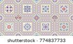 seamless ceramic tile with... | Shutterstock .eps vector #774837733