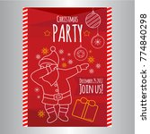 christmas party flyer in youth... | Shutterstock .eps vector #774840298
