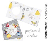 merry christmas card template...   Shutterstock .eps vector #774840310