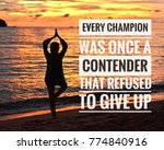 inspirational motivation quotes ... | Shutterstock . vector #774840916