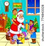 illustration of santa claus...   Shutterstock .eps vector #774843328