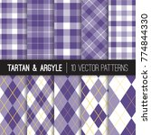 purple golf style argyle and... | Shutterstock .eps vector #774844330