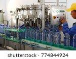 line robotic factory for...   Shutterstock . vector #774844924