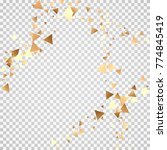 golden confetti on a... | Shutterstock .eps vector #774845419