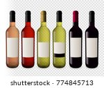set illustrations of wine... | Shutterstock .eps vector #774845713