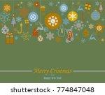 decorative winter card ... | Shutterstock .eps vector #774847048