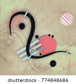 abstract composition with... | Shutterstock . vector #774848686