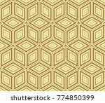 stylish geometric background.... | Shutterstock . vector #774850399